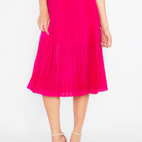 Hot Pink Accordian Skirt