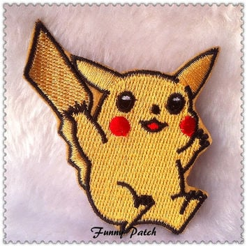 Lovely Pet Pikachu Iron on Patch 29-H