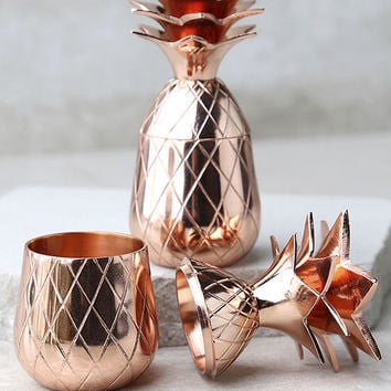 The Pineapple Co. Copper Pineapple Shot Glass Set