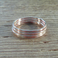 Stacking Ring Pink Gold Plain