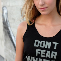 don't fear {glow in the dark} tank