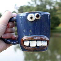 Blue Coffee Mug, Gifts 25 and Under