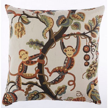 Canaan Company 2122 Crazy Monkey Damask 24 x 24 Pillow