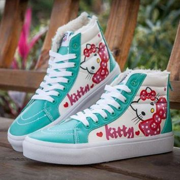 ICIKIJG VANS X Hello Kitty SK8-Hi Flats Ankle Boots Sneakers Sport Shoes