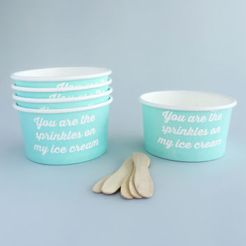 Adorable Mint Ice Cream Bowls