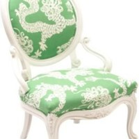 One Kings Lane - Samantha Knapp, Tiger Lily's - White Lacquered Dragon Chair