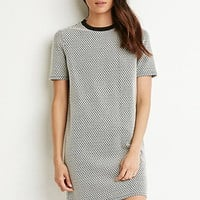 Micro-Patterned T-Shirt Dress