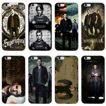 TV series supernatural Dean Winchester slim Soft phone case For Samsung Galaxy S3 S4 S5 S6 S7 edge S8 S9 Plus mini Note 3 4 5 8