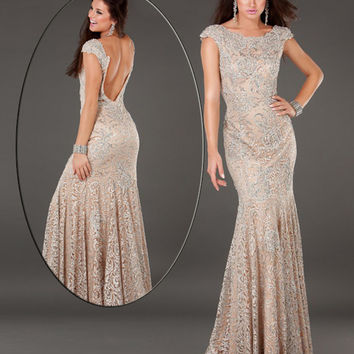 Lace mermaid gown 74495 - Prom Dresses