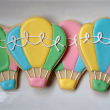 Sweet Hot Air Balloon Sugar Cookie Collection