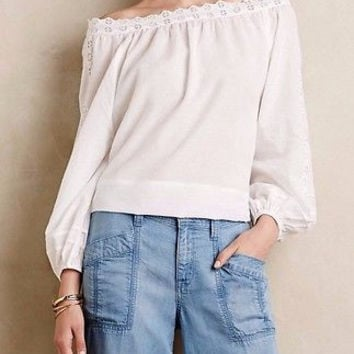 Anthropologie Cadena Peasant Top Sz L - by Leifsdottir - NWT