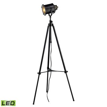D1735-LED Ethan Adjustable Tripod LED Floor Lamp in Restoration Black