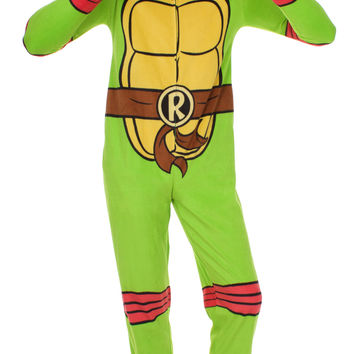 TMNT Raphael Hooded One Piece Pajama
