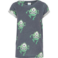 River Island Boys black Monsters Inc. print t-shirt