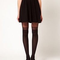 Gipsy Mock Over The Knee Stripe Tights