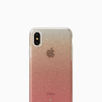 pink glitter ombre iphone x case