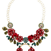 Dolce & Gabbana - Gold-plated, Swarovski crystal and patent-leather necklace