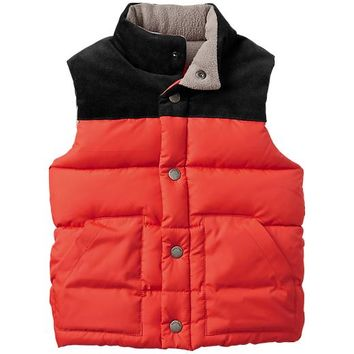 Gap Baby Factory Colorblock Puffer Vest