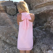 T-Back Bow Shift Dress In Blush Pink
