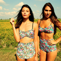 High Waisted bathing suit Made-to-Order