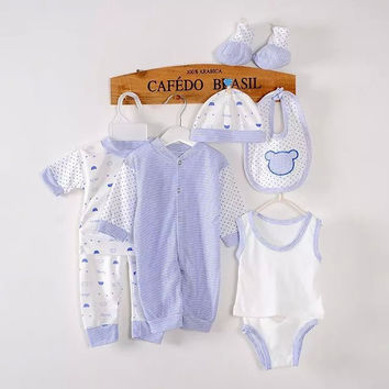 Newborn Baby/Boy Girl  8pcs warm Clothes and Cartoon Underwear set