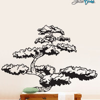 Vinyl Wall Decal Sticker Japanese Bonsai Tree #344