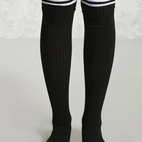 Thigh-High Ribbed Socks