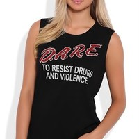 Tunic Muscle Tank Top with DARE Screen