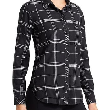 Athleta Womens Lumberjill Shirt Windowpane