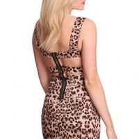 Brown Leopard Print Sweetheart Neckline Strappy Back Sexy Party Dress @ Amiclubwear sexy dresses,sexy dress,prom dress,summer dress,spring dress,prom gowns,teens dresses,sexy party wear,women's cocktail dresses,ball dresses,sun dresses,trendy dresses,swea