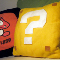 Super Mario Question Mark Block Pillow