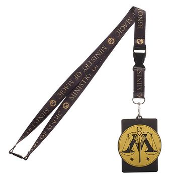 Harry Potter Hogwarts School of Witchcraft And Wizardry Wide Strap Lanyard ID Badge Holder
