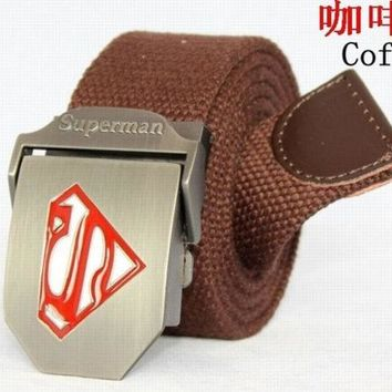 LMFUG3 Superman men's and women's thickening Canvas Belt leisure tactical belt YAODAI009 = 1945859076