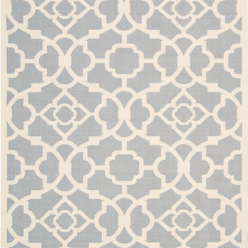 Waverly Sun & Shade Lovely Lattice Grey Area Rug By Nourison SND04 GRY (Rectangle)