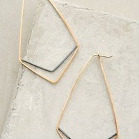 Chevron Hoops by Alana Douvros Gold One Size Earrings