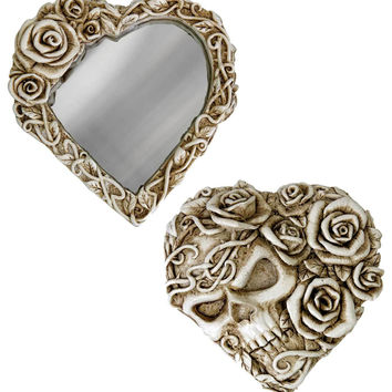 Alchemy Gothic The Vault Fate of Narcissus Compact Roses & Skull Mirror