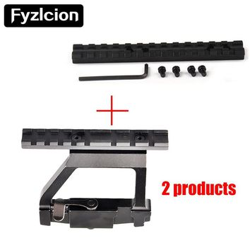 Top Rail Mount AK47/ AK74 SAIGA RIFLE Airsoft Side Rail Lock +1X Shortgun 13 Slots Mossberg 500,590,835 T01