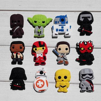 1pcs Star Wars 2 Shoe Charms PVC Shoes Accessories Shoes Decoration Small Ornaments or Gifts for Party Shoe Buckles