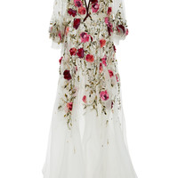 Floral Embroidered Gown | Moda Operandi