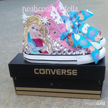 Custom Frozen Theme Inspired Converse