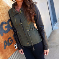Olive Edge Jacket | The Rage