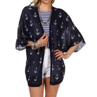 Sale-anchor Print Cover Up