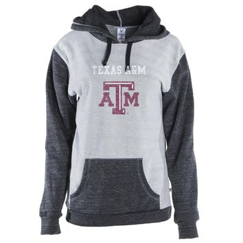 Official NCAA Texas A&M University Aggies - 01AMDS16 Color Block Kangaroo Pocket Pullover Hoodie