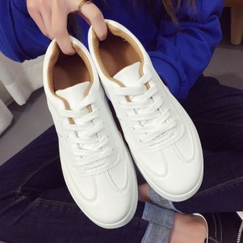 2018 Women's Sneakers White Black Platform Womens sports Shoes Ladies Basket Femme Trainers pu leather running shoes woman
