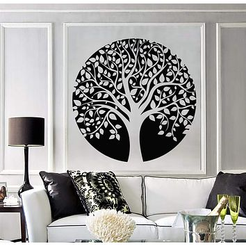 Vinyl Wall Decal Family Circle Tree of Life Celtic Style Nature Stickers Unique Gift (1246ig)