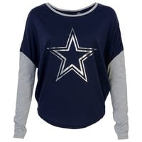 Dallas Cowboys Poplar Dolman Top - Women's