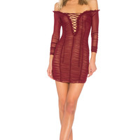 MAJORELLE Darling Dress in Merlot
