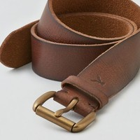 AEO Women's Tumbled Leather Belt (Brown)
