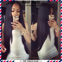 Brazilian Virgin Clip In Hair Extensions-Remy Hair