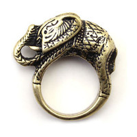 vintage gold elephant ring fashion symbols mean lucky rings women